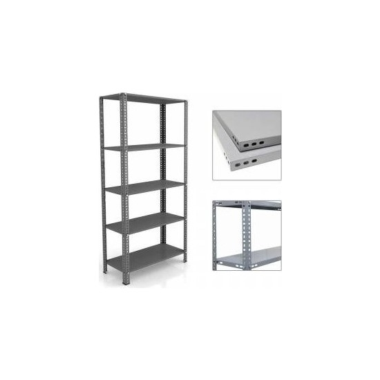 Mira Raf Çelik Raf Sistemleri - 31x93x200 5 Raflı