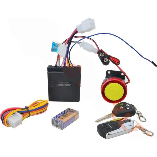 Monero Motosiklet Alarmı Kablolu Tesisatlı & Pilli Monero