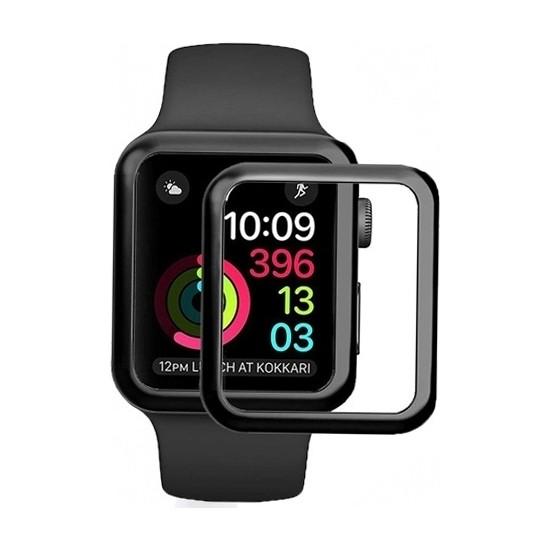 Eiroo Apple Watch 4 Curve Tempered Glass Premium Full Cam Ekran Koruyucu (40 mm)