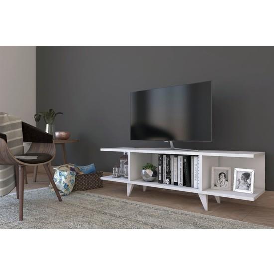Platinreyon Modern Kapaksız TV Ünitesi Televizyon Sehpası 120 cm