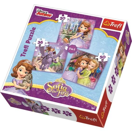 Trefl Prenses Sofia Çocuk Puzzle(20+36+50 Parça)