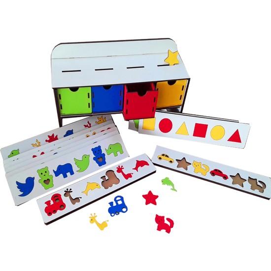 Ahşap-Renkler Ve Şekiller-Montessori Serisi