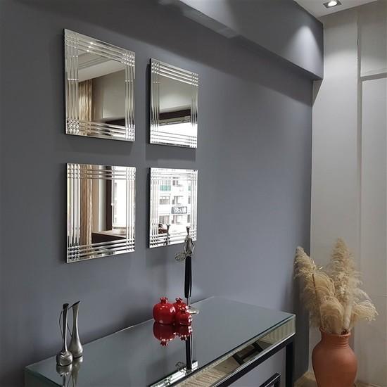 NEOstill -4'lü Dekoratif Duvar Salon Ayna A401b