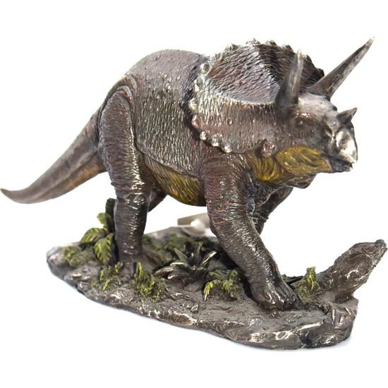 Afm Treceratops Dinazor Dekoratif Biblo Veronese Design 21 x 8 x 13 cm