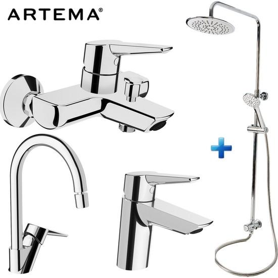 Artema Solid S 3 Lü Batarya Seti + Punto Plus 3C Tepeduş Seti