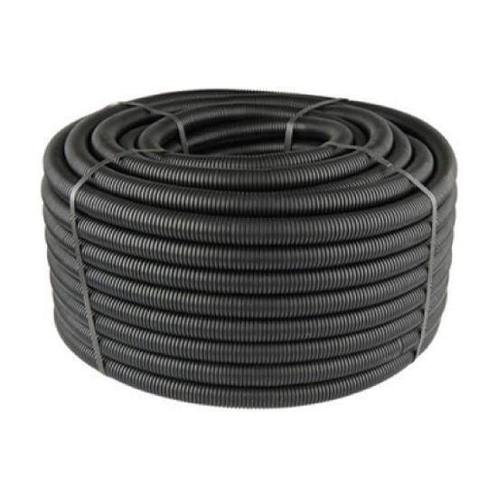 Mutlusan Siyah Plastik Spiral Boru 14Mm (100'Mt)