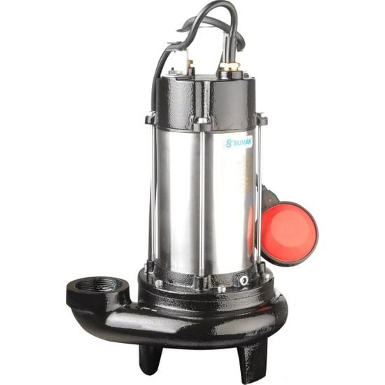 Sumak Sbrm15/2 Bıçaklı Foseptik Dalgıç Pompa Monofaze (220V) 1.5 Hp