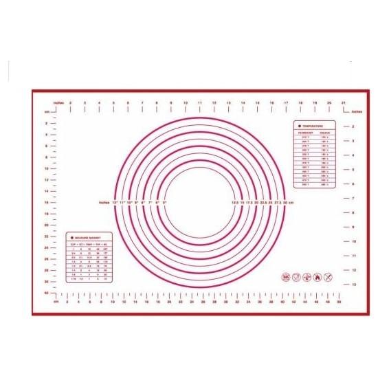 Rosh Silpat Hamur Açma Silikon Altlık 60X40 Kırmızı