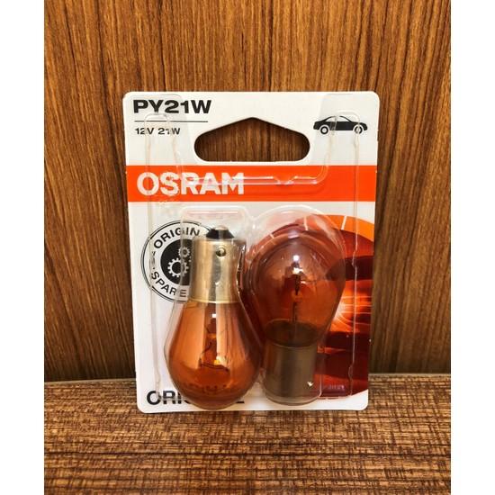 Osram 7507 Py21W 12V 21W 93 Sinyal Sarı Amber 2'li Set