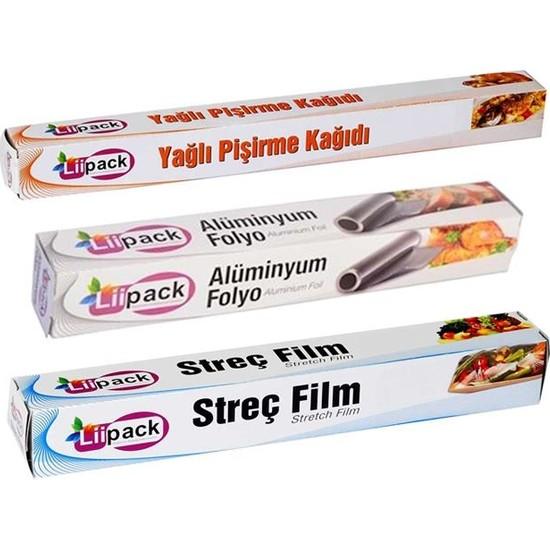 Liipack Alüminyum Folyo - Streç - Yağlı Pişirme Kağıdı