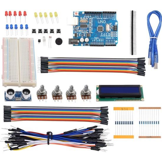 Arduino 124 Parça Uno R3 Robotik Kodlama Uygulamaları Süper Başlangıç Proje Eğitim Seti T1