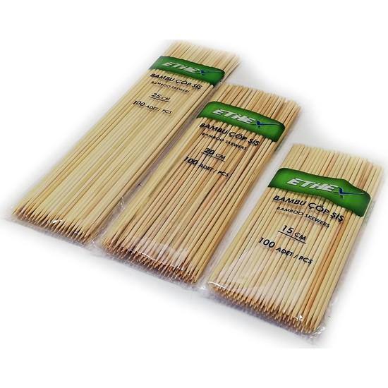 Ethex Bambu Çöp şiş 100'lü 25 cm