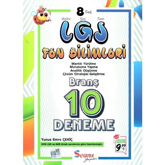 Seans Yayınları 8. Sınıf LGS Fen Bilimleri 10 Deneme