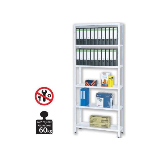 Regalux Metal Raf Seti Beyaz 60 Kg Raf Taşıma Kapasiteli 15600147131