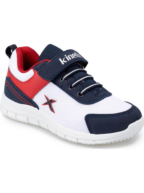 Kinetix Roger Beyaz Lacivert Kırmızı Erkek Çocuk Koşu Ayakkabısı