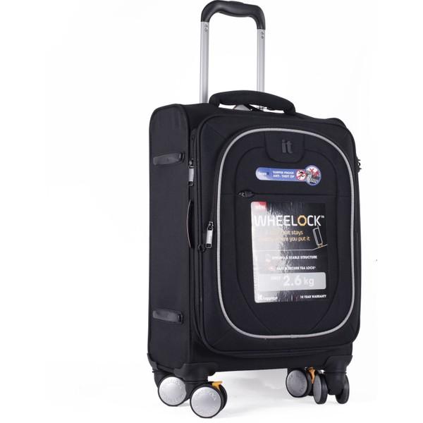 b24d19bbe253a It Luggage Kabin Boy Kumaş Valiz Siyah 2228 Fiyatları, Özellikleri ...