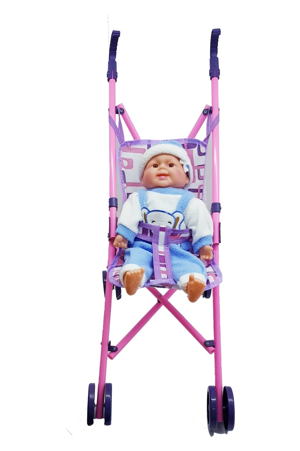 Can Oyuncak Girls' Baby Stroller with Smiley Doll