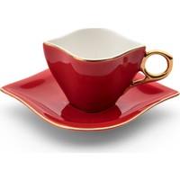 Emsan Sonsuz Aşk 2 Kişilik Kahve Fincan Takımı Kırmızı