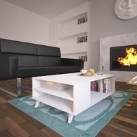 Nur Mobilya Milan Orta Sehpa Beyaz