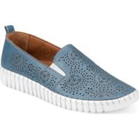 Polaris 91.100810.Z Mavi Kadın Deri Ayakkabı