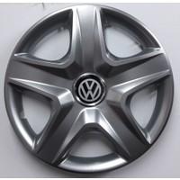 """Sjs Volkswagen Polo 2003-2005 14"""" Çelik Jant Görünümlü Kırılmaz Esnek Jant Kapağı Takımı"""