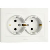 Ovivo Electrıc İkili Topraklı Priz Beyaz