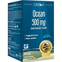 Ocean 500 mg 60 Kapsül Balık Yağı