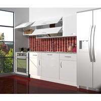 Decoraktiv Hazır Mutfak Dolabı Prestij 220 cm Parlak Beyaz -Tezgah Dahil
