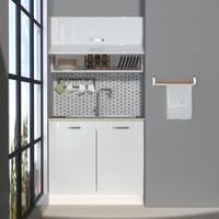 Decoraktiv Hazır Mutfak Dolabı Mini 90Y cm Parlak Beyaz -Tezgah Dahil