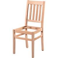 Obuts Home 4607 4 Çıtalı Döşemeli Sandalye Cilasız Ahşap Ham