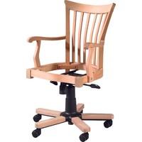 Obuts Home 4782 Şerif Dönerli Sandalye Cilasız Ahşap Ham