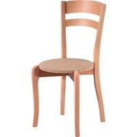Obuts Home 4579 Çift Tepeli Sandalye Cilasız Ahşap Ham