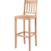 Obuts Home 4637 Çıtalı Izgaralı Bar Sandalye Cilasız Ahşap Ham