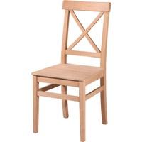 Obuts Home 4604 Çapraz Izgaralı Sandalye Cilasız Ahşap Ham