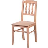Obuts Home 4598 Izgaralı Çıtalı Sandalye Cilasız Ahşap Ham