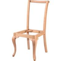 Obuts Home 4614 Giydirme Sandalye Lükens Cilasız Ahşap Ham