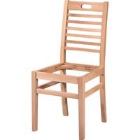 Obuts Home 4603 Tutmalı Döşemeli Sandalye Cilasız Ahşap Ham