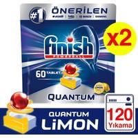 Finish Quantum 120 Tablet Bulaşık Makinesi Deterjanı Limon (60x2)