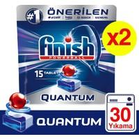 Finish Quantum 30 Tablet Bulaşık Makinesi Deterjanı (15x2)