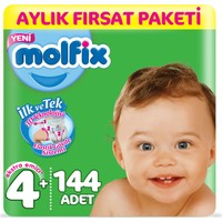 Molfix Bebek Bezi 4+ Beden Maxi Plus Aylık Fırsat Paketi 144 Adet