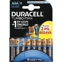 Duracell Turbomax Alkalin AAA İnce Kalem Pil 8'li Paket
