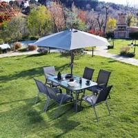 Hepsi Home Balkon Bahçe Teras 7 Parça Masa+Sandalye Takım Şemsiye Hediyeli
