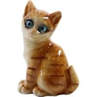 Dekorsende Yavru Sarı Kedi Biblo