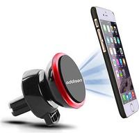 Addison ADS-118 Siyah/Kırmızı Mıknatıs 360 Derece Mini Araç Telefon Tutucu