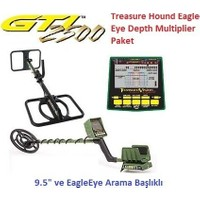 Garrett Dedektör Gtı 2500 Treasure Hound Eagle Eye Depth Multiplier Paket (9,5 İnch Ve Eagleeye Başlık)