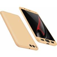 Case 4U Xiaomi Mi 6 360 Derece Korumalı Tam Kapatan Koruyucu Kılıf Altın