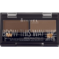 Rimmel London Brow This Way Kaş Kit Medium Brown