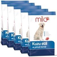 Milo Sokak Hayvanları İçin Kuzu Etli ve Pirinç Formüllü Köpek Maması 1 kg x 5 adet