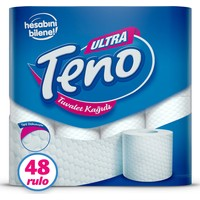 Teno Ultra Tuvalet Kağıdı Jumbo Paket 48 Rulo