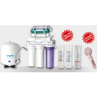 Lifetech Su Arıtma Cihazı 7 Aşamalı Alkali - Detox Arıtma Cihazı + LifeTech 3 Aşama Filtre Seti + Arıtmalı Duş Başlığı